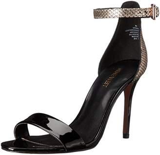 Nine West Women's Mana Metallic dress Sandal $56.23 thestylecure.com