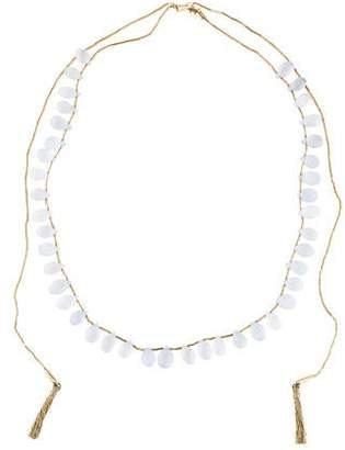 H.Stern Chalcedony & Sapphire Lizard Clasp Necklace