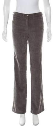 Armani Collezioni Mid-Rise Corduroy Pants Grey Mid-Rise Corduroy Pants