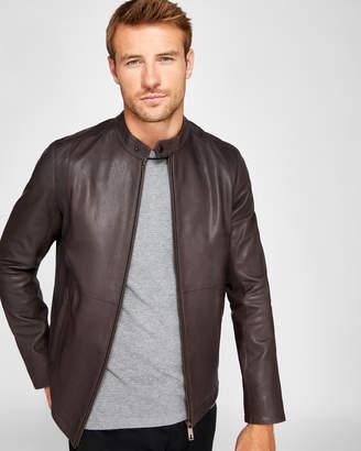 Ted Baker MATE Leather biker jacket