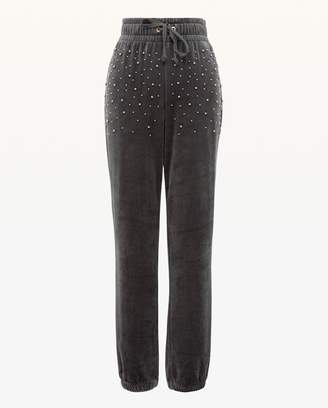 Juicy Couture Bead Embellished Lightweight Velour Zuma Pant