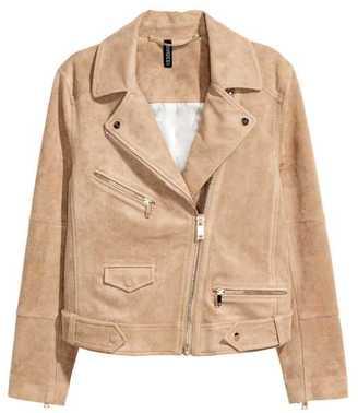 H&M Faux Suede Biker Jacket