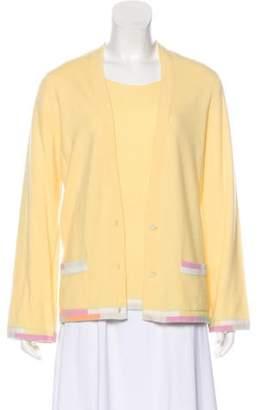 Chanel Cashmere Cardigan Set Yellow Cashmere Cardigan Set