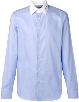 Gucci contrasting collar shirt