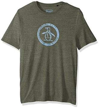 Original Penguin Men's Short Sleeve Triblend Circle Logo Tee