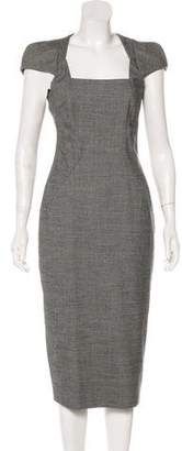 Antonio Berardi Virgin Wool Midi Dress