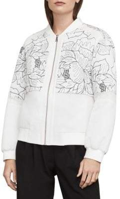 BCBGMAXAZRIA Tessa Embroidered Bomber Jacket