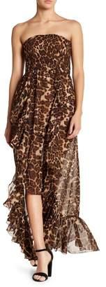 Know One Cares Hi-Lo Ruffle Smocked Tube Dress