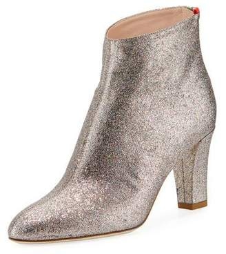 Sarah Jessica Parker Minnie 75mm Sparkle Glitter Almond-Toe Bootie