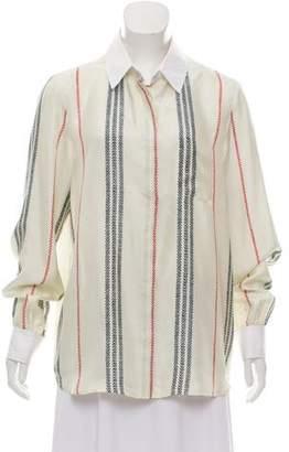 Altuzarra Striped Silk Button-Up