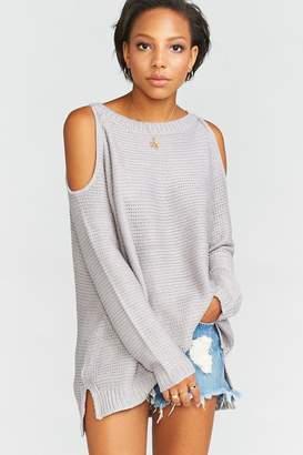 Show Me Your Mumu Shiver Shoulder Sweater