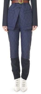 Tibi Quilted Jogger Pants