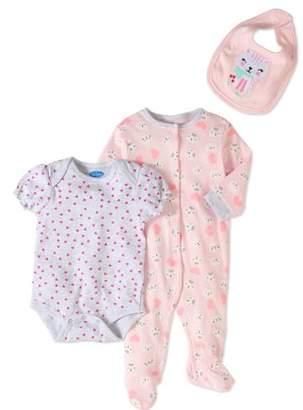 Bon Bebe Newborn Baby Girl Take-Me-Home, 3pc Set
