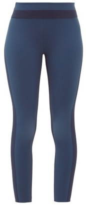 Vaara Freya Cropped Leggings - Womens - Black Navy