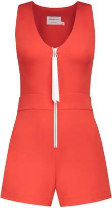 with me. blonde gone rogue - Run Away Playsuit In Tomato Red