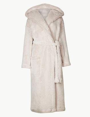Marks and Spencer Supersoft Hooded Long Sleeve Dressing Gown