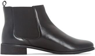 3cc98116c78 La Redoute COLLECTIONS PLUS Wide Fit Leather Chelsea Boots