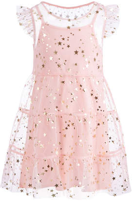 Epic Threads Toddler Girls Flutter-Sleeve Star-Print Dress