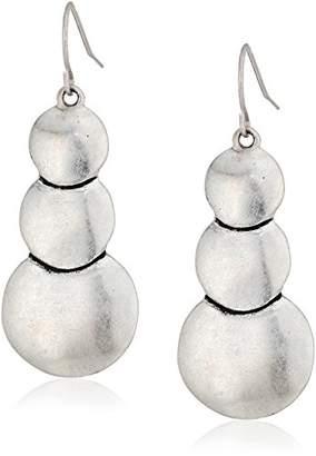 The Sak Layered Circle Drop Earrings