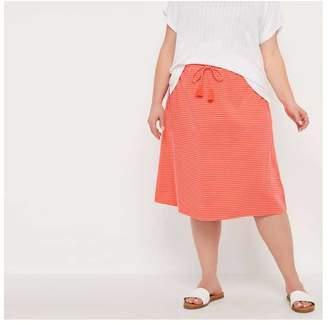 Joe Fresh Women+ Stripe Midi Skirt, Mid Blue (Size 2X)