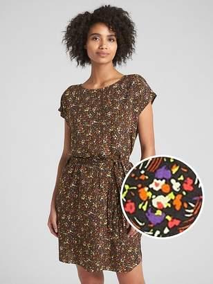 Gap Short Sleeve Floral Print Shift Dress
