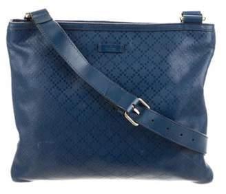 Gucci Diamante Leather Crossbody Messenger Bag Blue Diamante Leather Crossbody Messenger Bag