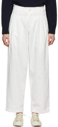 YMC Off-White Drill Keaton Trousers