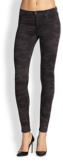 Hudson Nico Mid-Rise Super Skinny Camo Jeans