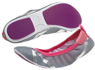 Puma Axel Mesh Ballet Flats in Grey