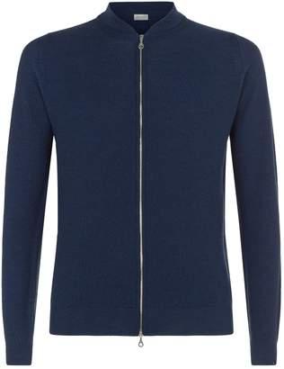 John Smedley Wool Zipped Cardigan