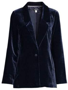 Eileen Fisher Velvet Draped Jacket