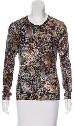 Blumarine Abstract Patterned Knit Cardigan