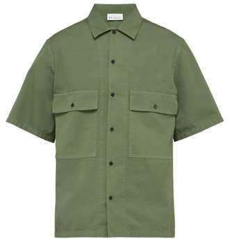 Raey Oversized Short Sleeved Cotton Shirt - Mens - Green