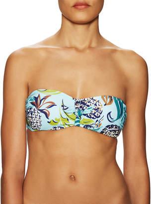 Anna Sui Tie Front Bandeau Removable Soft Cup Bikini Top