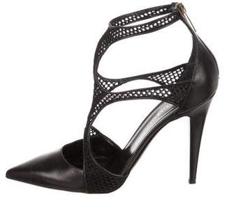 Tamara Mellon Leather Caged Pumps