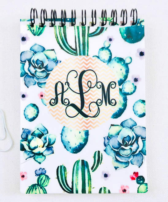 Cactus Monogram Notepad