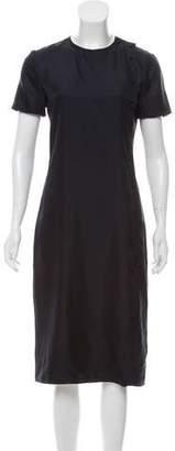 Protagonist Short Sleeve Silk Dress