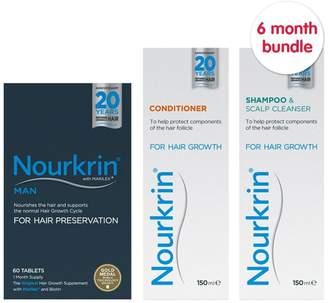 Nourkrin Man 6 months + Free 2x Nourkrin Shampoo & Scalp Cleanser 150ml & 2x Nourkrin Conditioner 150ml