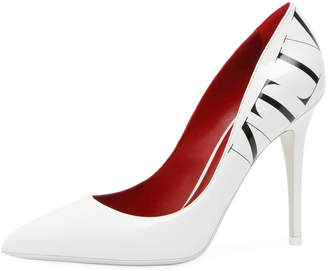 Valentino VLTN Patent Pointed-Toe Pumps