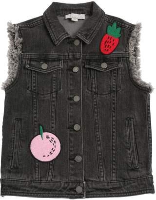 Stella McCartney Fruit Patch Stretch Denim Vest