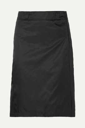 Prada Shell Wrap Skirt - Black