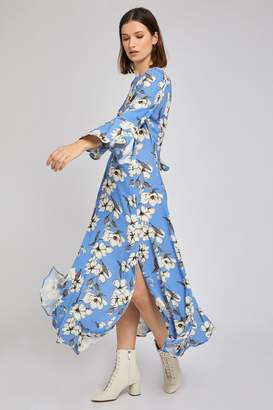 Ghost Womens London Blue Luisa Tree Blossom Printed Crepe Dress - Blue