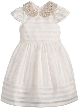 Bonnie Jean Little Girls Beaded-Collar Organza Dress