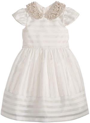 Bonnie Jean Toddler Girls Beaded-Collar Organza Dress