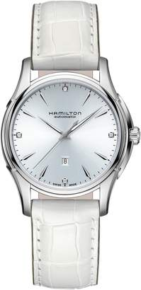 Hamilton Jazzmaster Viewmatic Automatic Leather Strap Watch, 34mm