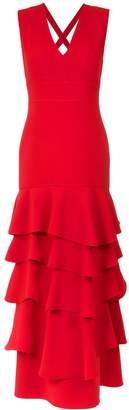Olympiah ruffled gown