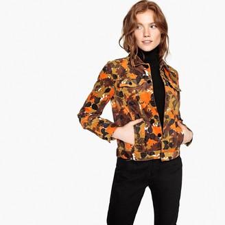 0440422a0e La Redoute COLLECTIONS Leaf Print Velour Jacket