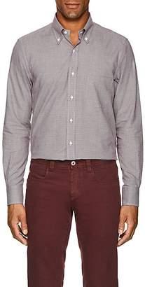 Loro Piana Men's Checked Cotton Flannel Shirt