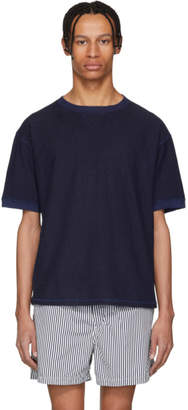 Blue Blue Japan Indigo Hand-Dyed Linen T-Shirt
