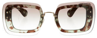 Miu Miu Miu Miu Reveal Square Sunglasses